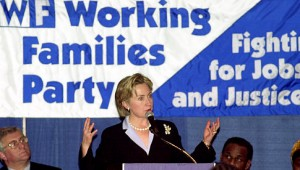 Hillary Clinton speaks to WFP in 2000, (Handschuh/News)