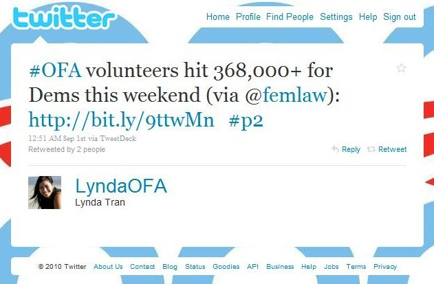 LyndaTran OFA tweet