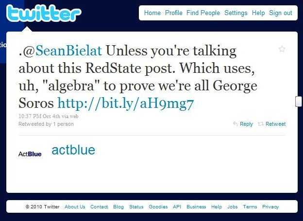 ActBlue tweet to Sean B. #2