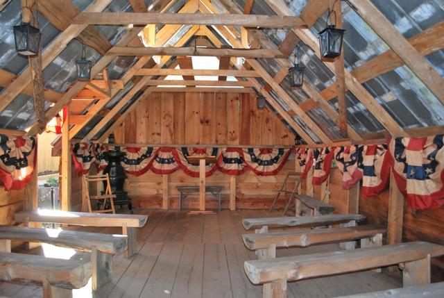 Inside Gettysburg chapel