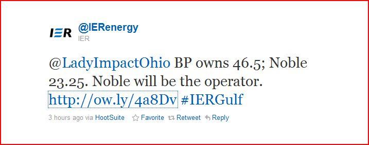 IER confirms BP
