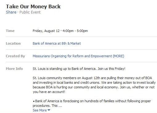 Bank of America location MO ACORN