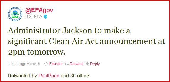 EPA on twit
