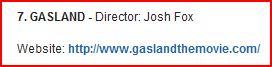 Gasland on State Dept watch list