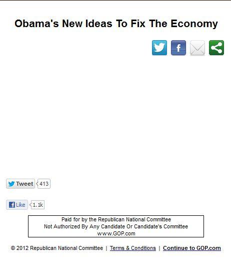 Obama's new ideas to fix the economy